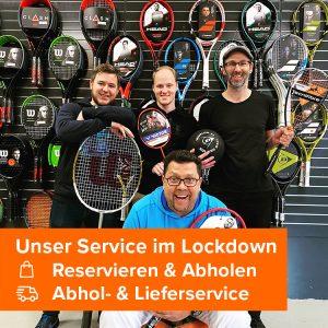 Racketprofis Service Lockdown